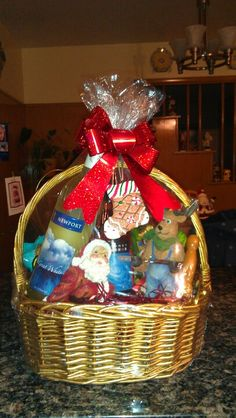 Another holiday basket idea Wicker Baskets, Gift Baskets, Holiday Baskets, Jars, Gift Ideas, Gifts, Home Decor, Sympathy Gift Baskets, Presents
