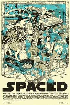 Movie Poster Drawing - Spaced