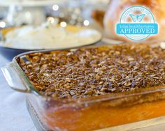 Sweet Potato Casserole (E) You might have noticed that most of our recipes on our THM Holiday Menu are S recipes.  We want you to enjoy the Holidays and be satisfied and content!  However, for those of us planning to enjoy a Crossover meal for our Holiday feast - this E side would be the perfect way to do that!