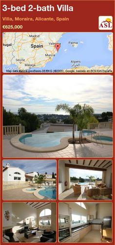 3-bed 2-bath Villa in Villa, Moraira, Alicante, Spain ►€625,000 #PropertyForSaleInSpain
