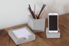 cementen bureauset pennenbakje telefoonhouder notitieblaadjes