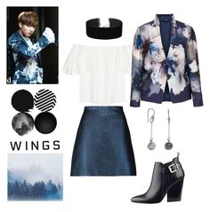 """Blood Sweat and Tears"" by alexthenerd ❤ liked on Polyvore featuring Carven, Valentino, GUESS, BillyTheTree, Miss Selfridge, Hermann Lange, kpop and bts"