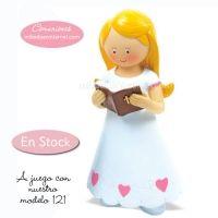 Figura Pastel Niña Comunión Lucia 16 cms