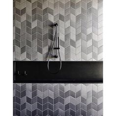 Doesn't a black shower niche separate this feature tile effectively? This image is from one of our recent projects with Featured are our Tex tiles by Bathroom Niche, Shower Niche, Bathroom Renos, Bathroom Interior, Niche Design, Floor Design, Wall Design, Rhombus Tile, Johnson Tiles