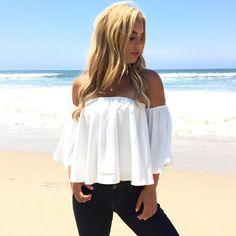 Sea La Vie Off Shoulder Blouse In White
