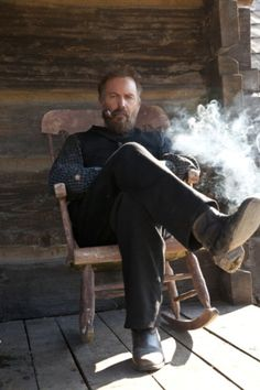 Kevin Costner in the Hatfields and McCoys. Thank you history channel for this mini series <3