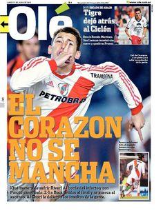 Lunes 11 de Junio del 2012. http://www.ole.com.ar/la-tapa/