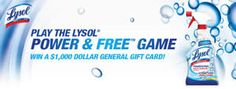 Lysol & Dollar General Instant Win Game & Sweepstakes (605 Winners!) on http://www.icravefreebies.com/