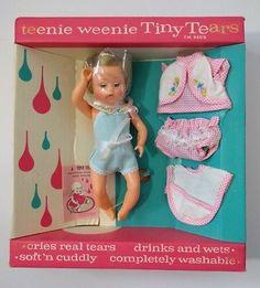NEW 1960's Vintage Teenie Weenie Tiny Tears Baby Doll NOS American Character