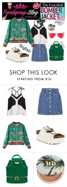 """""""Bomber Jackets: Estilo Oriental 2"""" by mayraacharok ❤ liked on Polyvore featuring Topshop, WithChic, Sixtyseven, Tyler Alexandra, Urban Decay and Ray-Ban"""