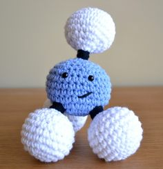 Mr. Methane! Love these crocheted molecules.