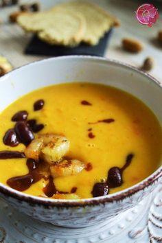 Süßkartoffel-Möhren Suppe mit Garnelen und roten Chili-Bohnen || Mein persönlicher Erkältungskiller