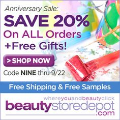 beautystoredepot: 20% Off Anniversary Sale + Free Ship
