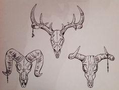Inspirationen Biro drawings Sheep skull Cow skull Deer skull Brand name clothing online deals Brand Bull Skull Tattoos, Bull Skulls, Deer Skulls, Animal Skulls, Sheep Skull, Cow Skull, Animal Sketches, Animal Drawings, Deer Skull Drawing