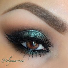 Smokey green #eye #makeup #eyes #eyeshadow #smokey #dark #dramatic #bold