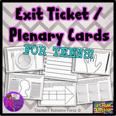 These exit tickets / plenary cards are a great way for students to summarise what they have learnt during your lesson in a fun and relatable way! They also provide you with great feedback to assess student progression in your lesson! Secondary School Science, Teaching Secondary, Teaching Music, Teaching Science, Science Lessons, Music Lessons, Classroom Displays Secondary, Assessment For Learning, Teaching Strategies
