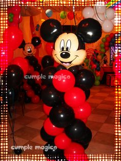 Ambientación temática Mickey - decoración en globos : Ambientación temática Mickey - decoración en globos  Decoración en globos  Decoración para cumpleaños -  CUMPLE MAGICO Ambientaciones  Ambientaciones temáticas Decoración para fiesta infantiles Decoración de globos Candy bar Golosinas personalizadas Centros de mesa Souvenirs   Tel: 4281.87.0 (de 13:00 a 19:00 hs) Cel: 15.50.12.10.61 Cumple_magico@hotmail.com w Mickey Mouse Clubhouse Birthday Party, Birthday Treats, Mickey Mouse Birthday, Birthday Parties, Fiesta Mickey Mouse, Mickey Mouse Parties, Mickey Party, Balloon Decorations, Birthday Decorations