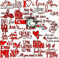 COLLECTION WORDS OF LOVE MTC/SVG Cut Files