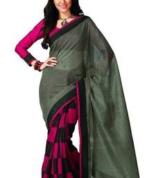 Buy pink printed bhagalpuri silk saree with blouse banarasi-silk-saree online