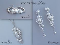 Hey, I found this really awesome Etsy listing at https://www.etsy.com/listing/214381213/pearl-wedding-set-crystal-and-pearl