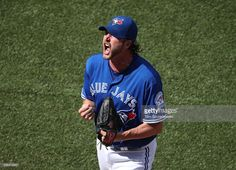 Jason Grilli #37 of the Toronto Blue Jays celebrates after getting the last out of the eighth inning during MLB game action against the Minnesota Twins on August 27, 2016 at Rogers Centre in Toronto, Ontario, Canada.
