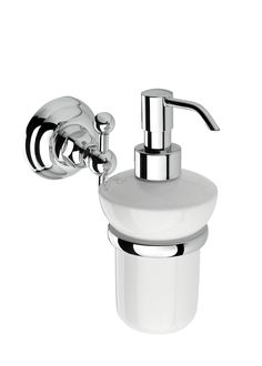 1489 - Ceramic Soap Dispenser & Holder, BAGNO www.sinkandtap.com.au