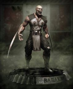 Baraka mortal combat computerized sculpture by Beneto