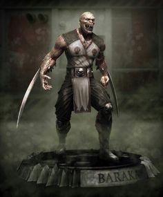 Baraka mortal combat computerized sculpture by Beneto