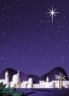"""""""Little Town of Bethlehem"""" -- via Tim West Nativity Stable, Diy Nativity, Christmas Nativity, Christmas Crafts, Christmas Party Themes, Christmas Program, Christmas Poster, Christmas Decorations, Christmas Scenery"""