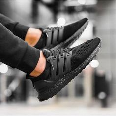 Adidas Ultra Boost - Triple Black - 2016 (by. – Adidas Ultra Boost - Triple Black - 2016 (by inmidoutsole) Sneaker Outfits, Converse Sneaker, Puma Sneaker, Sneakers Mode, All Black Sneakers, Shoes Sneakers, Black Shoes, Women's Shoes, Adidas Sneakers