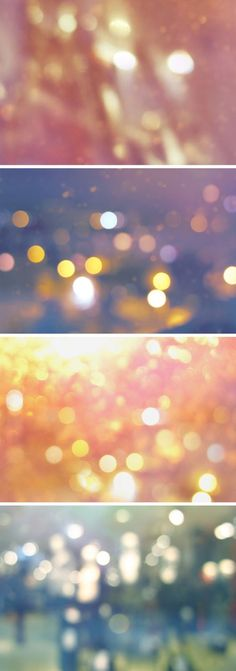 Free Bokeh Backgrounds Vol.1 - lots of free resources for design - personal and commercial!