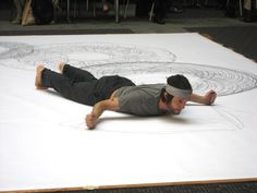 Tony Orrico - Drawing Performance Work Today, Artist At Work, Contemporary Artists, Lego, Kids Rugs, Watercolor, Map, Create, Drawings