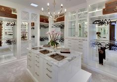 Huge all white walk in closet