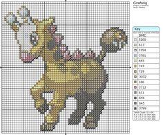 203 - Girafarig by Makibird-Stitching.deviantart.com on @deviantART