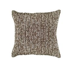 Variegated Cable Knit Pillow, Brown $29 Click Image to BUY NOW