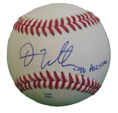 Dan Wilson Autographed Rawlings ROLB1 Leather Baseball w/ Inscription, Proof Photo