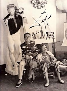 SALVADOR DALI....WITH GALA DALI.....PARTAGE OF BONNIE BYHEART......