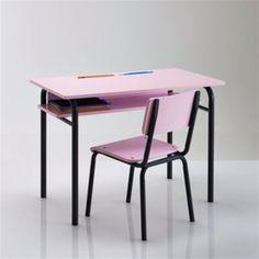 La Redoute - Bureau style écolier - bleu ciel ou rose - 85 cm - 150 105e