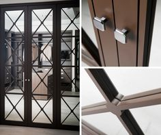 For the 2nd bedroom | Chocolate Heritage Hinged Doors with Mirror
