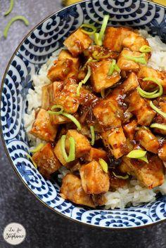 Tofu Recipes, Vegetable Recipes, Asian Recipes, Vegetarian Recipes, Ethnic Recipes, Baguette, Tofu Sauce, Plats Healthy, Vegan
