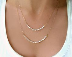 Items similar to Simple Pearl Necklace For Wedding, Layered Pearl Necklace Gold, 2 Strand Real Pearl Wedding Jewelry For Bridesmaids Rose Gold, Silver on Etsy Multi Strand Pearl Necklace, Layered Pearl Necklace, Pearl Statement Necklace, Long Pearl Necklaces, Simple Necklace, Gemstone Necklace, Gold Earrings, Pearl Pendant, Real Pearl Necklace