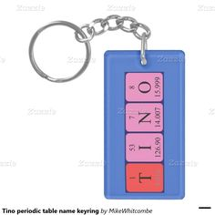 Laura periodic table name keyring single sided rectangular acrylic tino periodic table name keyring single sided rectangular acrylic key ring urtaz Gallery
