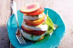 Salade caprese met nectarine - Allerhande