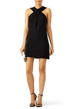 Rachel Zoe Black Crisscross Dress