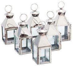 Mini Mogador Lanterns (Set of 6) - contemporary - Candles And Candle Holders - Riado