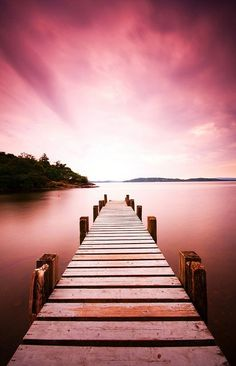 jetty at sallochy #sunset #scotland