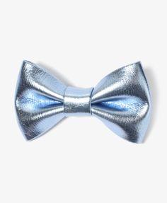 Metallic Bow Hair Clips