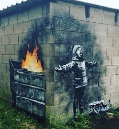 New Banksy mural has appeared in Port Talbolt - pinnervo Banksy Graffiti, Banksy Artwork, Street Art Banksy, Bansky, Banksy Paintings, Street Art News, Street Artists, Environmental Art, Urban Art