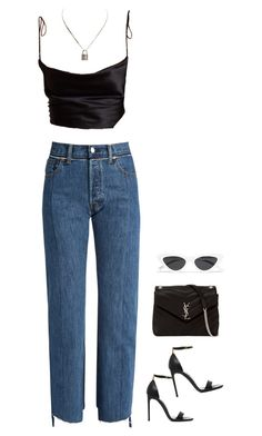 """x"" by mclarasouza ❤ liked on Polyvore featuring Vetements, Tom Ford, Yves Saint Laurent, Le Specs and Hermès"