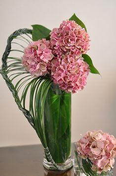 flower arragement, Hydrangea, Beargrass, Anthurium